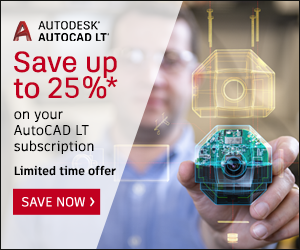 15% off New Annual Subscriptions of AutoCAD LT (+MAC) Save 25% off New 3 Year Subscriptions of AutoCAD LT (+MAC)
