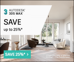 Save 15% off New Annual Subscriptions of 3ds Max Save 25% off New 3 Year Subscriptions of 3ds Max,