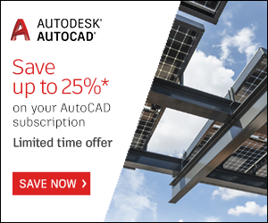 Save15% off New Annual Subscriptions of: AutoCAD including Specialised Toolsets Save 25% off New 3 Year Subscriptions of AutoCAD including Specialised Toolsets