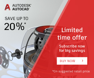 15% off New Annual Subscriptions of AutoCAD LT (+MAC) Save 20% off New 3 Year Subscriptions of AutoCAD LT (+MAC)